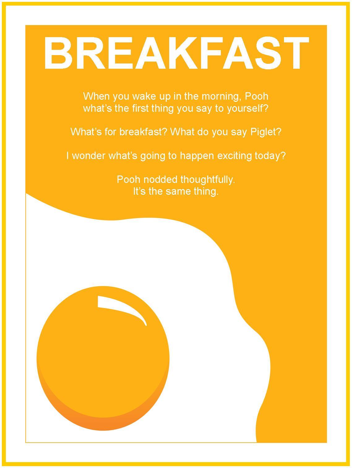 Breakfast quote #1