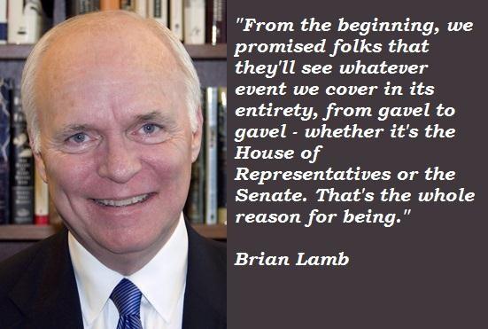 Brian Lamb's quote #4