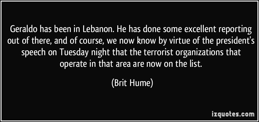 Brit Hume's quote #7