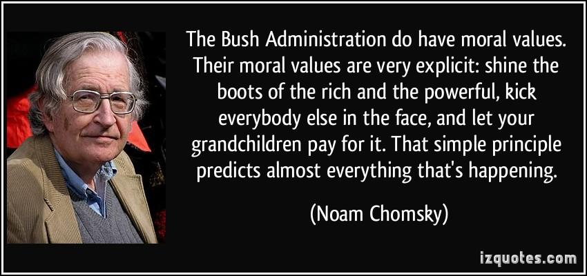 Bush Administration quote #1