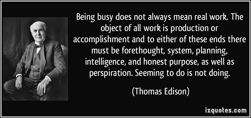 Busy Working quote #1