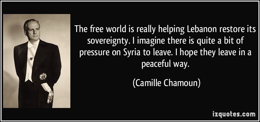 Camille Chamoun's quote #1