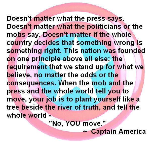 Captain America quote #1
