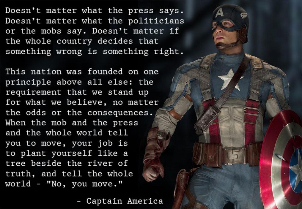 Captain America quote #2