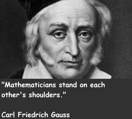 Carl Friedrich Gauss's quote #1