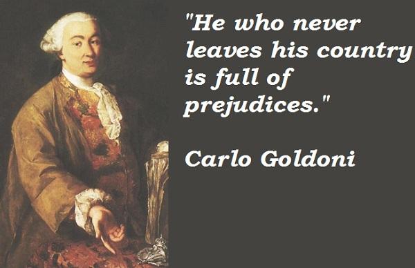 Carlo Goldoni's quote #1