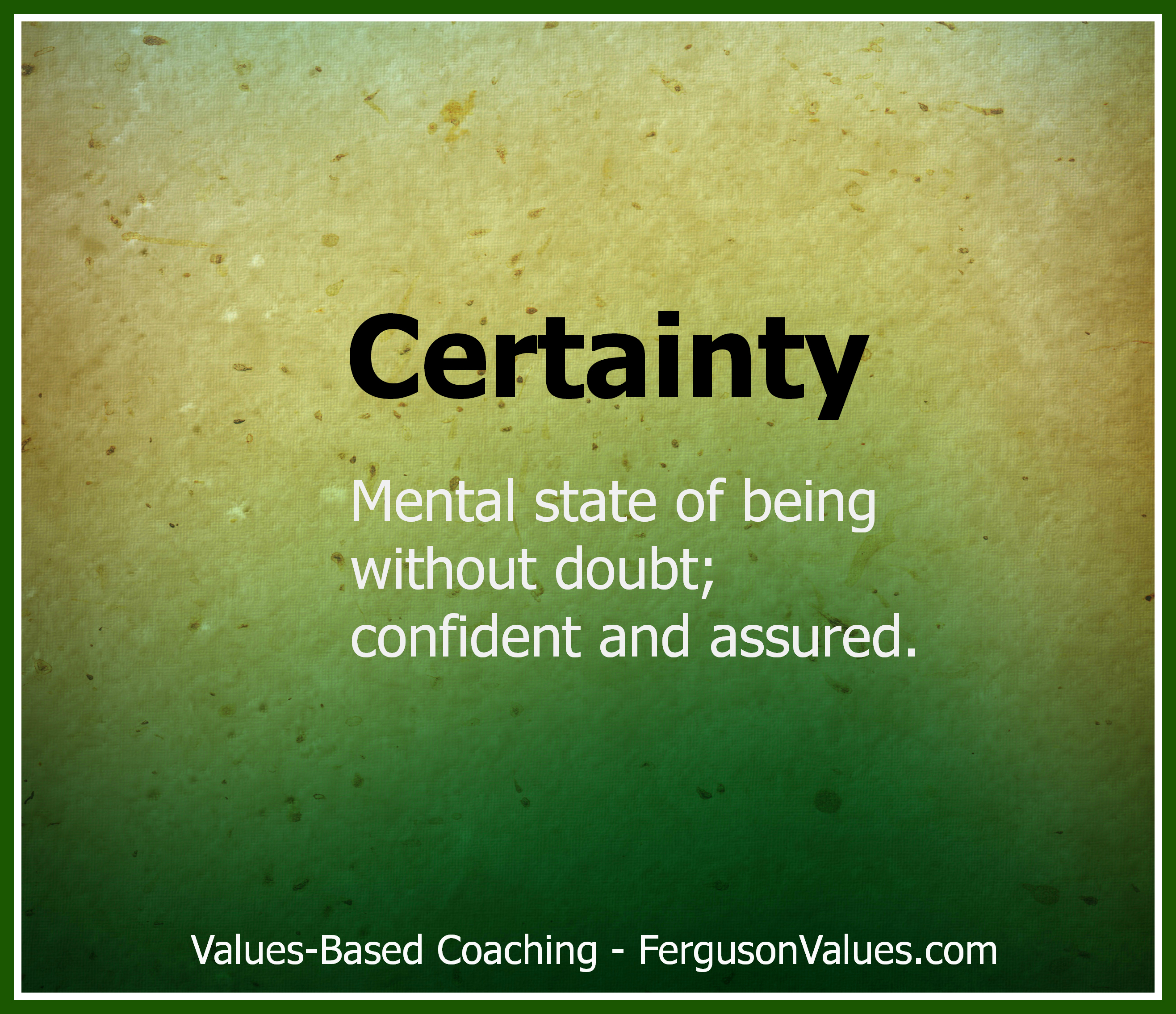 Certainty quote #2