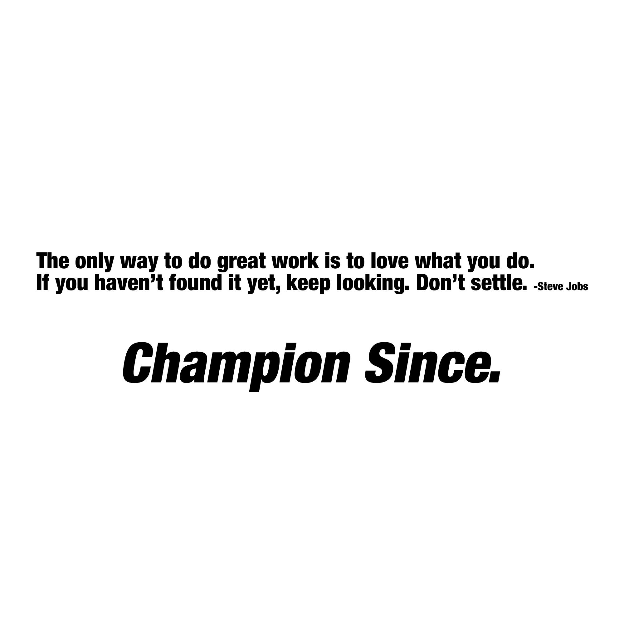 Champion quote #2