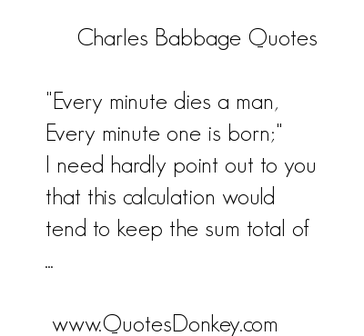Charles Babbage's quote #3