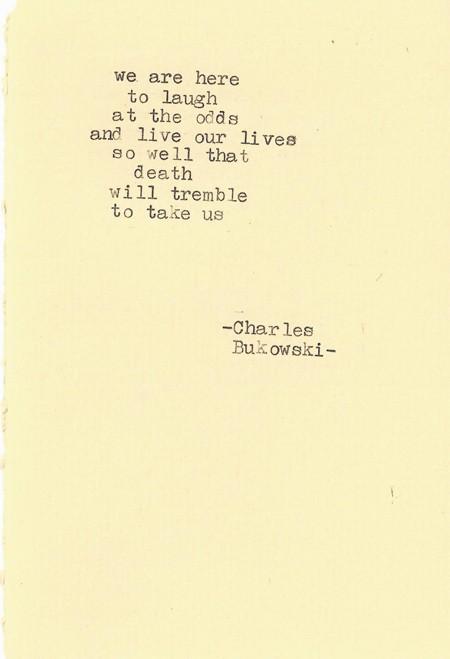 Charles Bukowski's quote #5