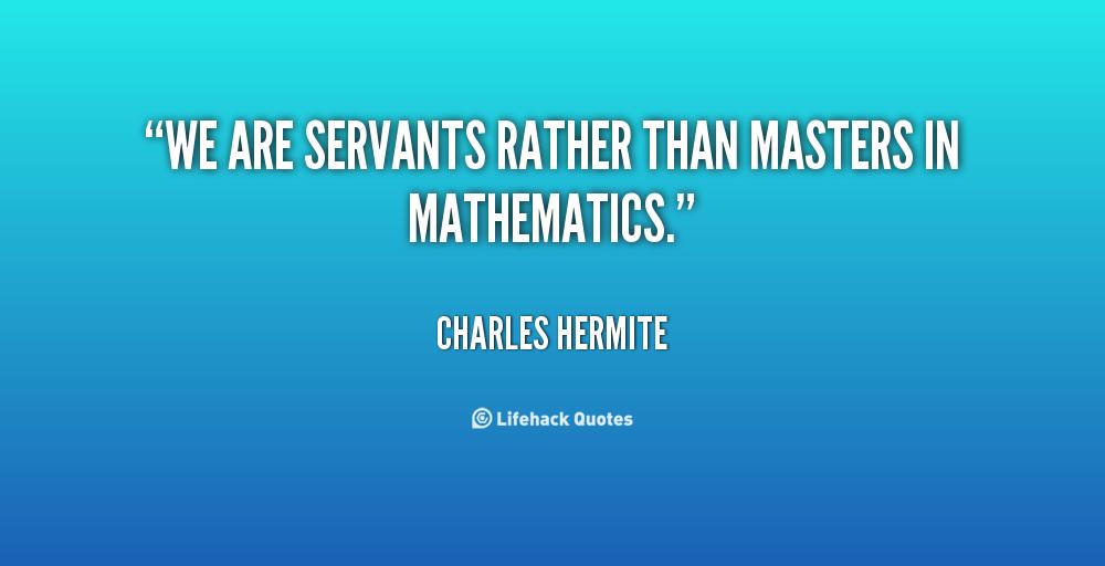 Charles Hermite's quote #1