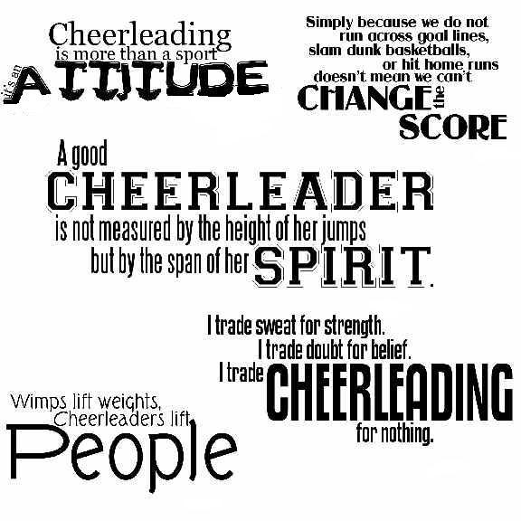 Cheerleader quote