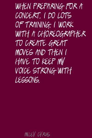 Choreographer quote #2