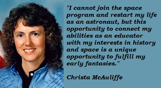 Christa McAuliffe's quote #8
