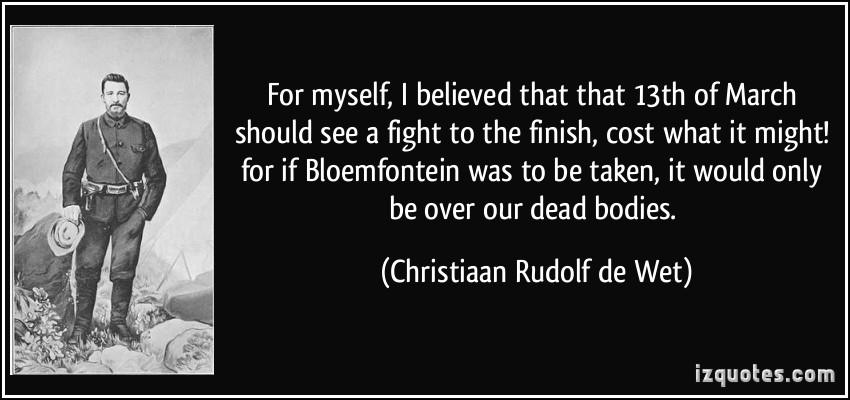 Christiaan Rudolf de Wet's quote #2