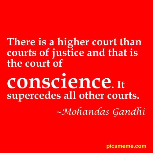 Clear Conscience quote