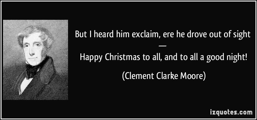 Clement Clarke Moore's quote #1