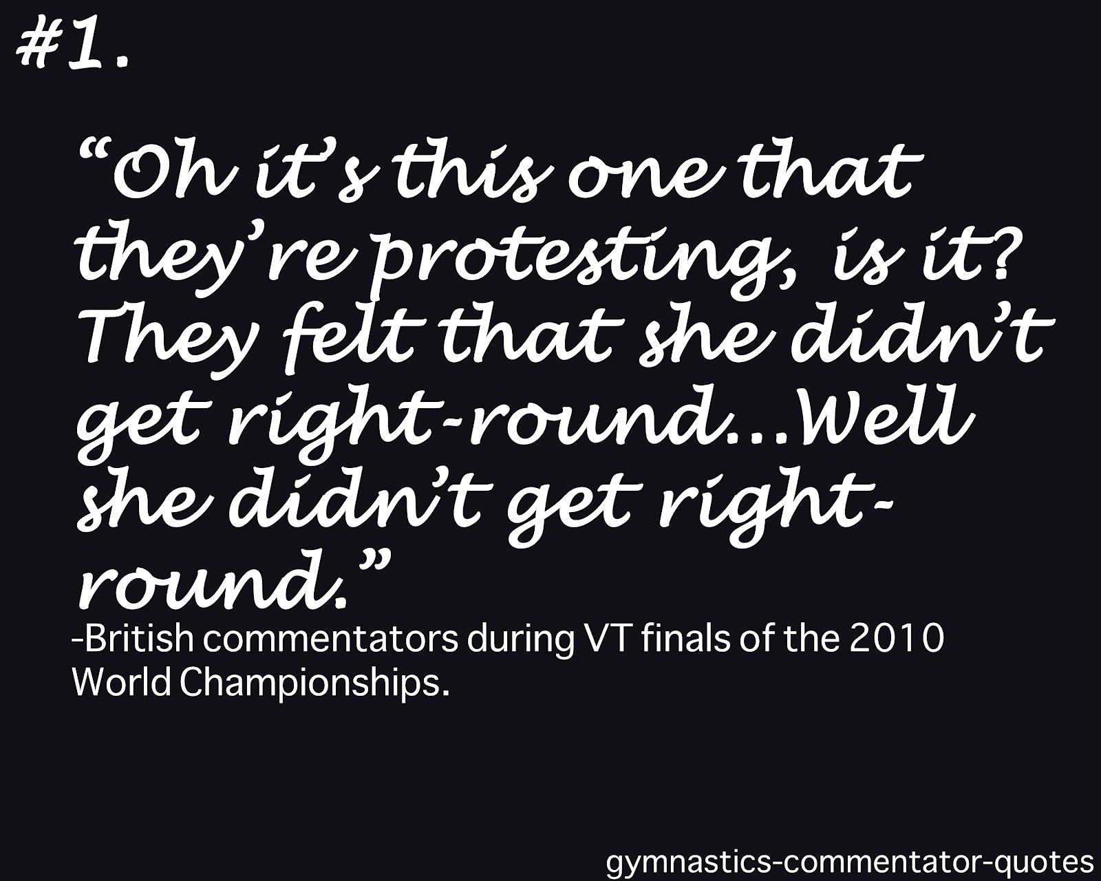 Commentators quote #2