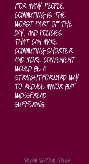 Commuting quote #1