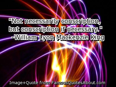 Conscription quote #1