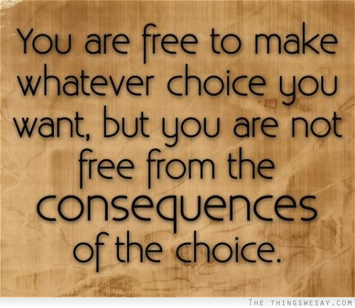 Famous Quotes About Consequences Sualci Quotes