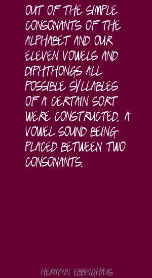 Consonants quote #1