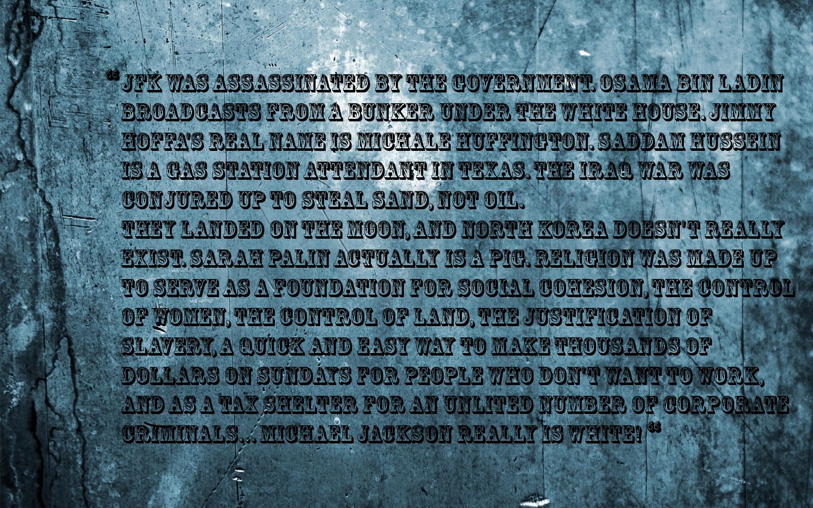 Conspiracies quote #1