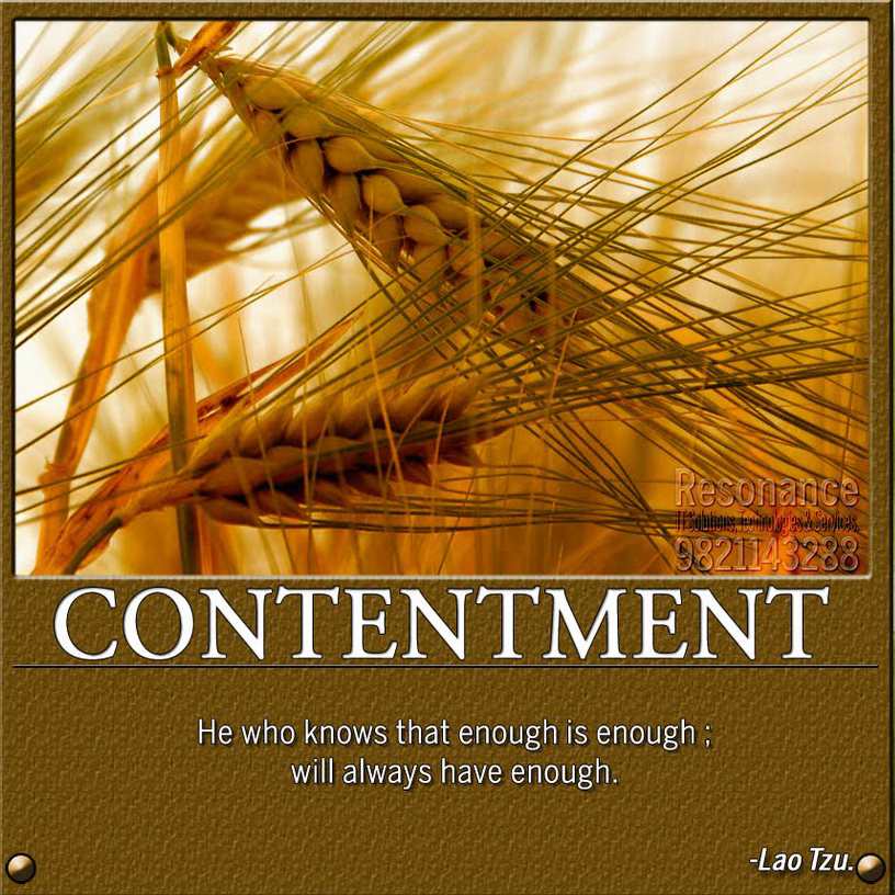 Famous quotes about 'Contentment'   Sualci Quotes