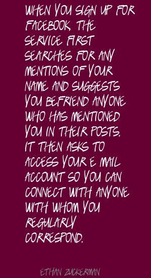 Correspond quote #1