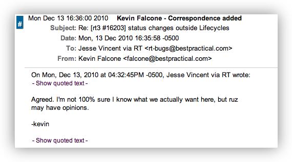 Correspondence quote #2
