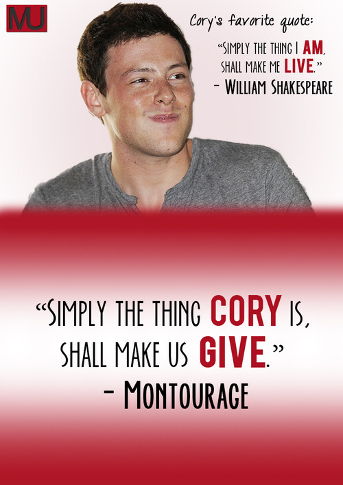 Cory Monteith's quote #7