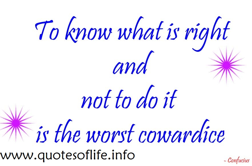 Cowardice quote #1