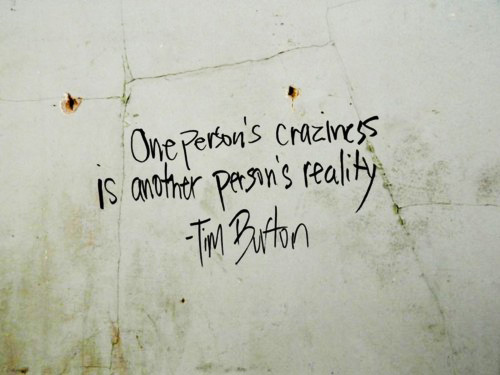 Craziness quote #1