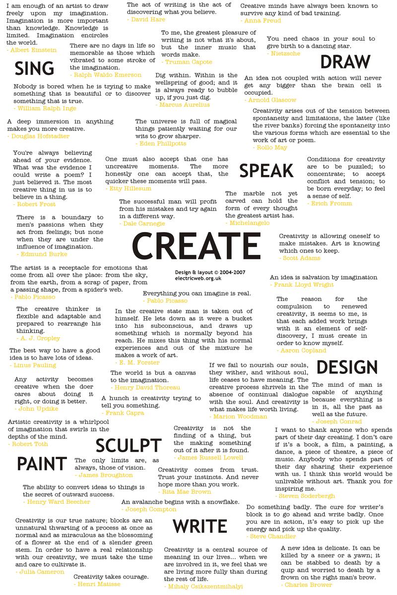 Creativity quote #1
