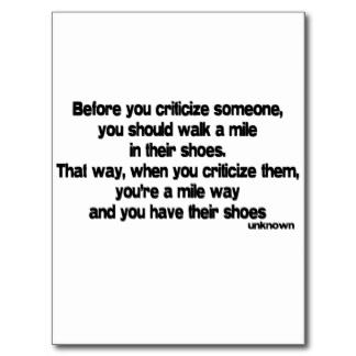 Criticise quote #1