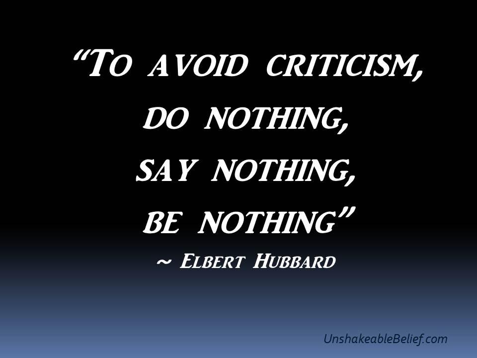 Criticism quote #1