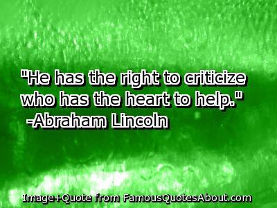 Criticize quote #1