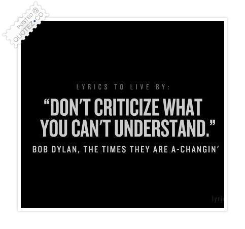 Criticize quote #3