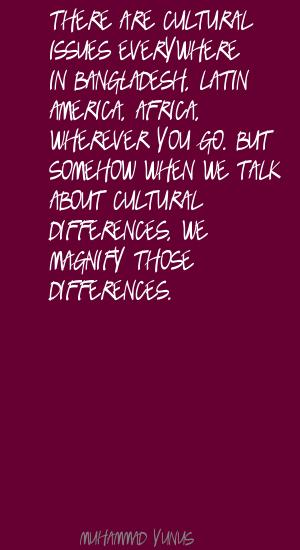Cultural Issues quote #2