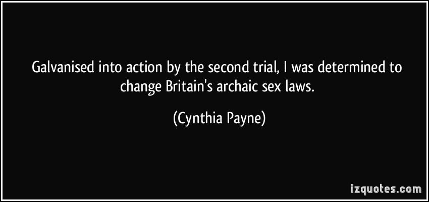Cynthia Payne's quote #2