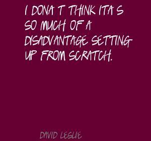 David Leslie's quote #1
