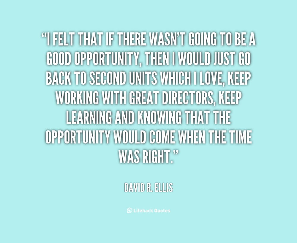 David R. Ellis's quote #8