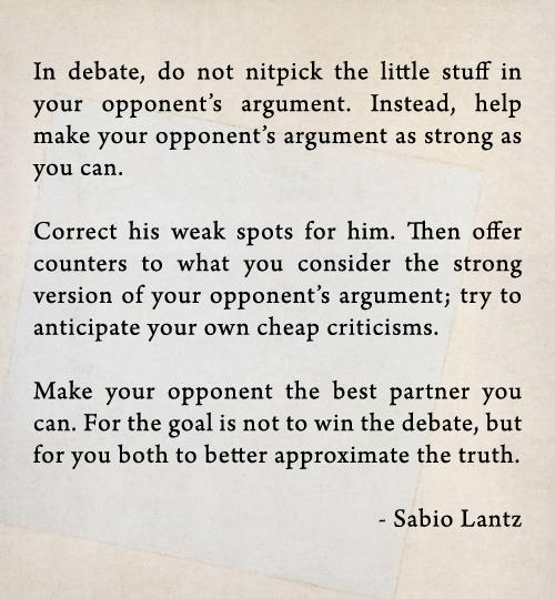 Debate quote #1
