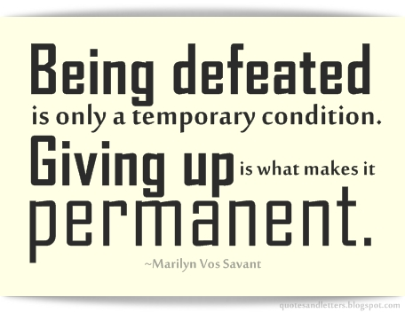 Defeated quote #1