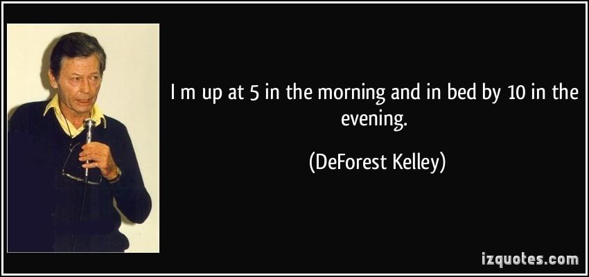 DeForest Kelley's quote #5