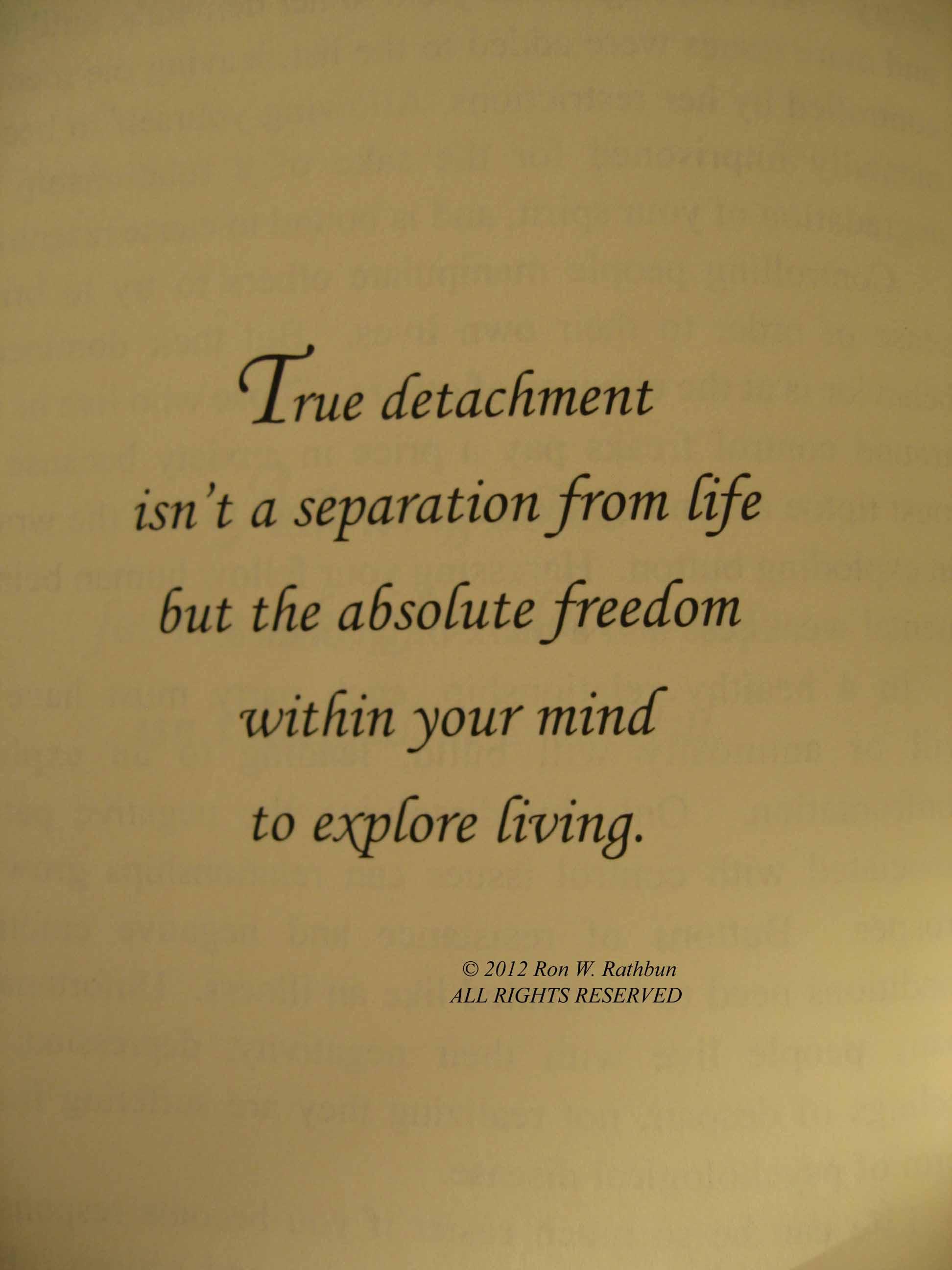 Detachment quote #1