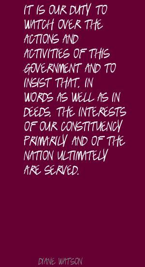 Diane Watson's quote #5