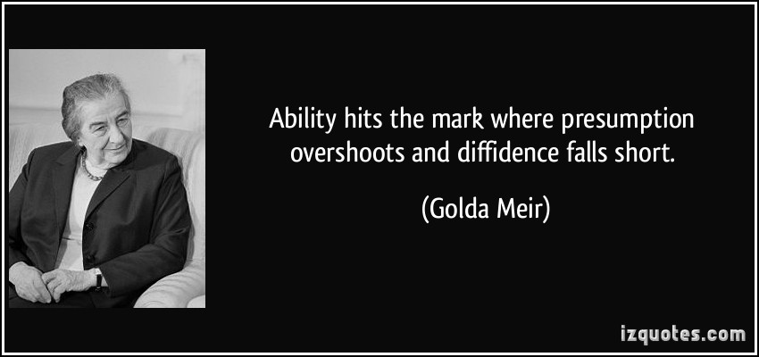 Diffidence quote #1