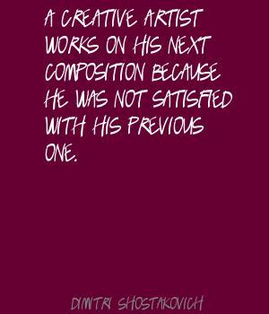 Dimitri Shostakovich's quote #1