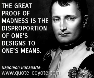 Disproportion quote #2
